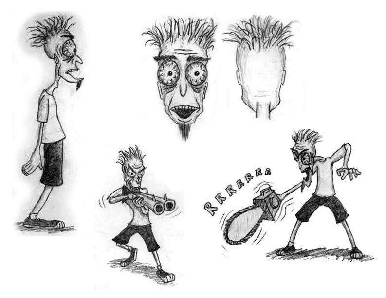 Concept sketches of Jon from Story of Jon project