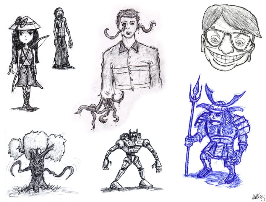 Miscellaneous sketches