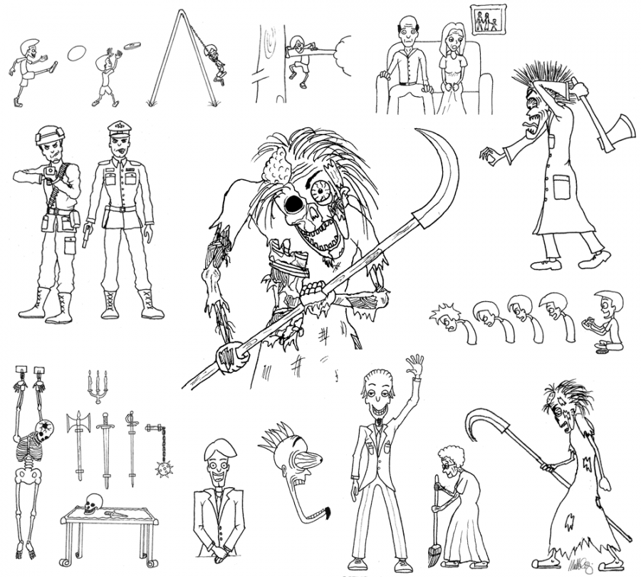 Characters & assets for Story of Jon project