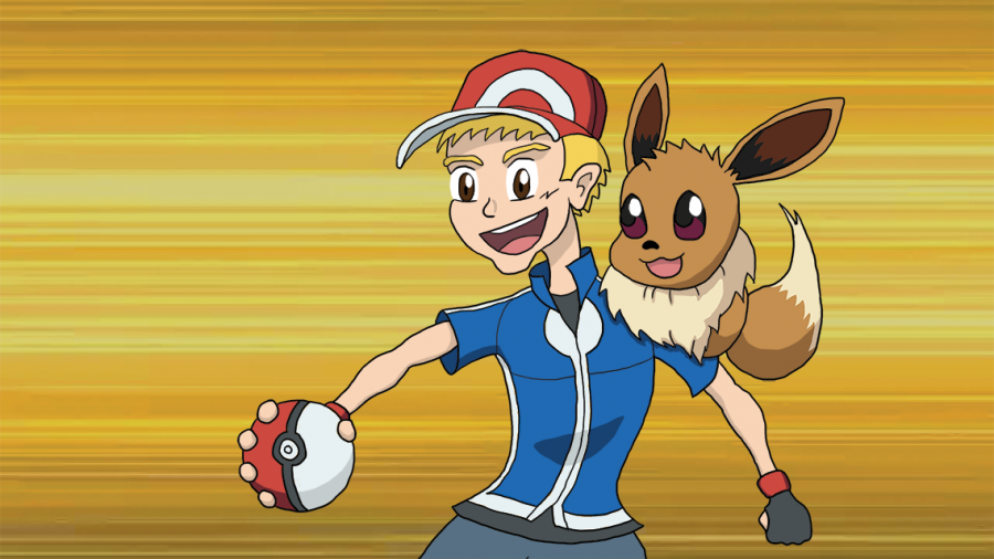 """Josiah the Pokemon Trainer"". Custom illustration for child's party invitation"