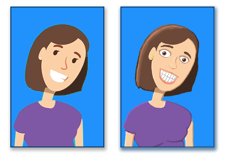Stock vector character makeover